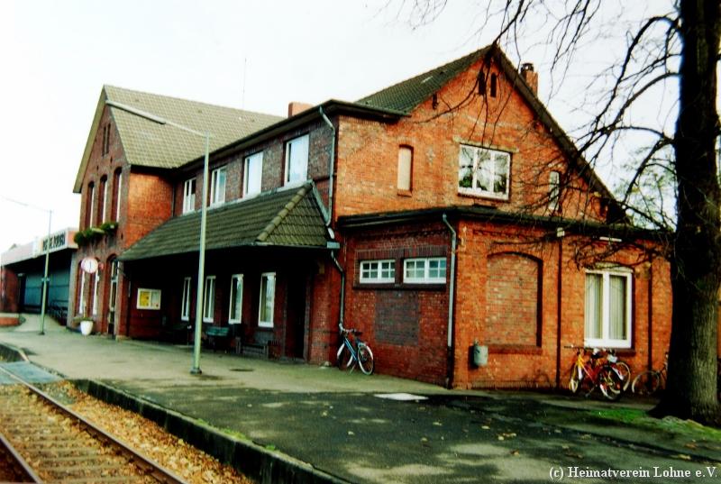 Bahnhof Löhne bahnhof 2000 018 2 heimatverein lohne e v tel 04442 9592855